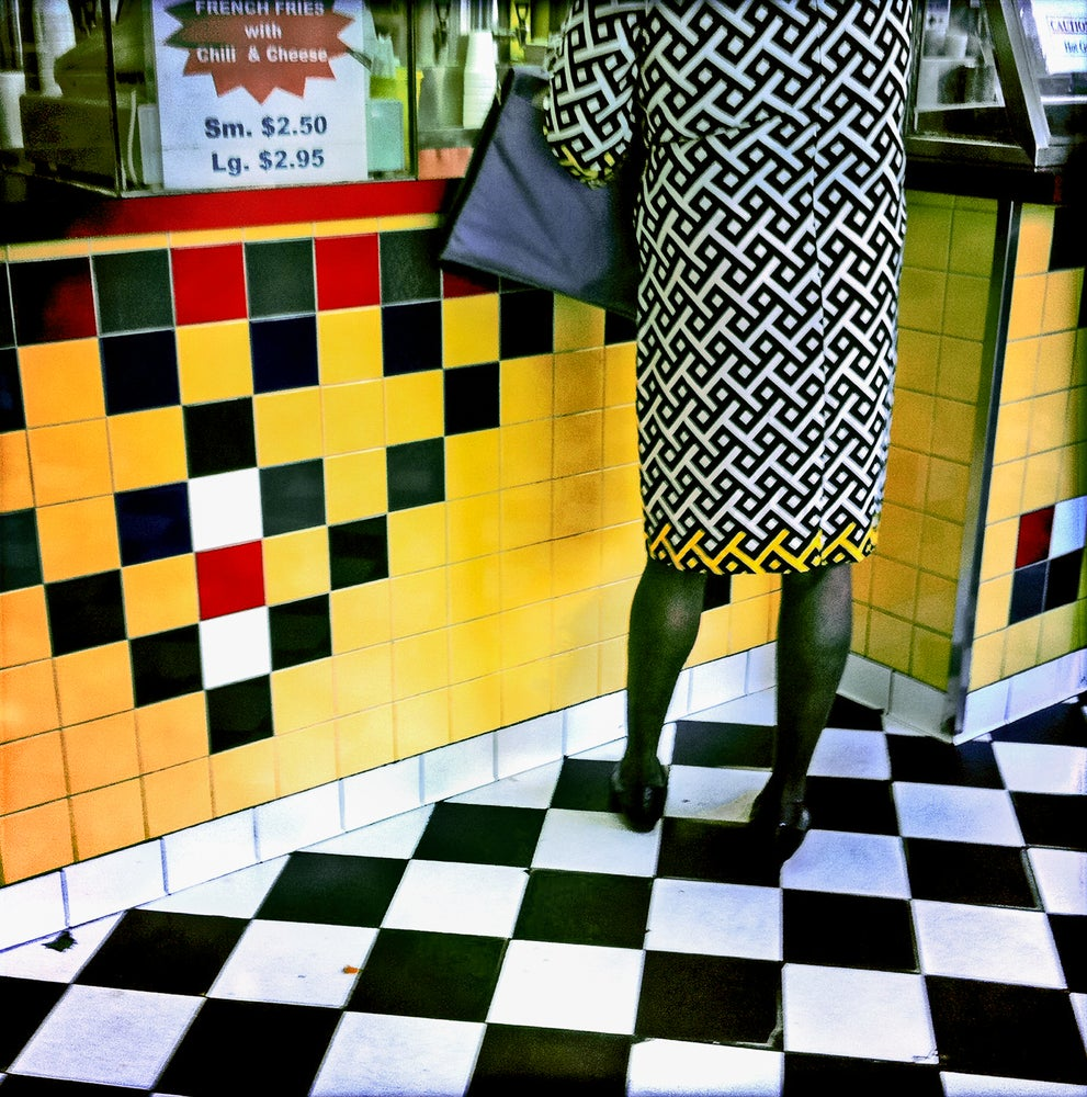 Image of Woman in a Handmade Dress, New York, NY USA