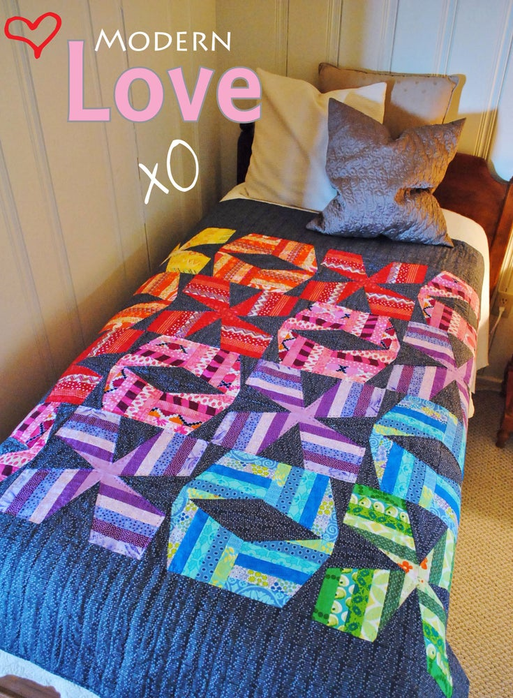 Image of Modern Love Quilt ~ PDF Pattern