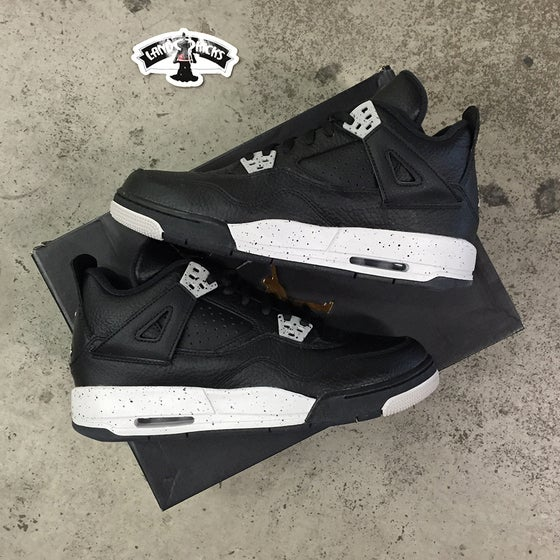 Image of Nike Air Jordan 4 Retro BG 'Oreo'
