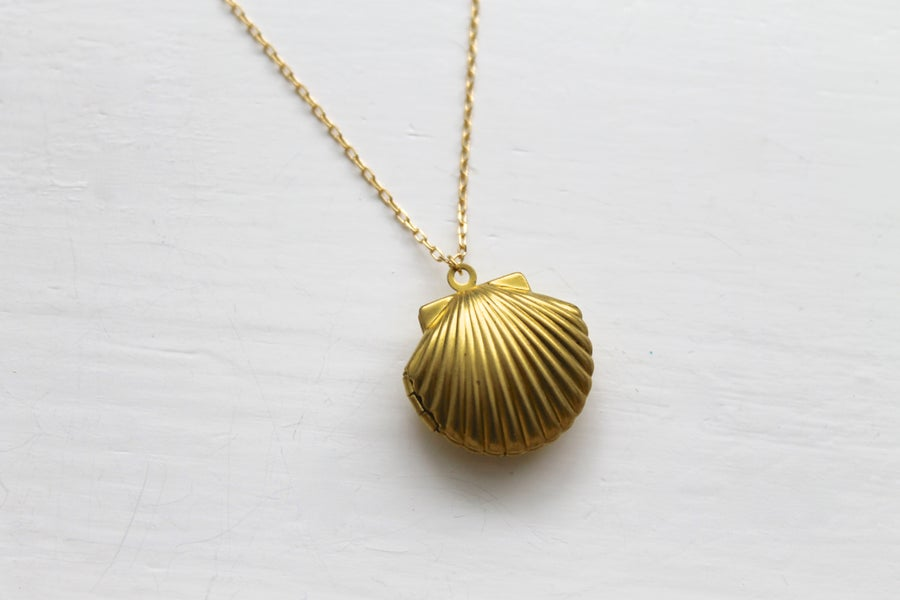 Image of Seashell Locket Necklace