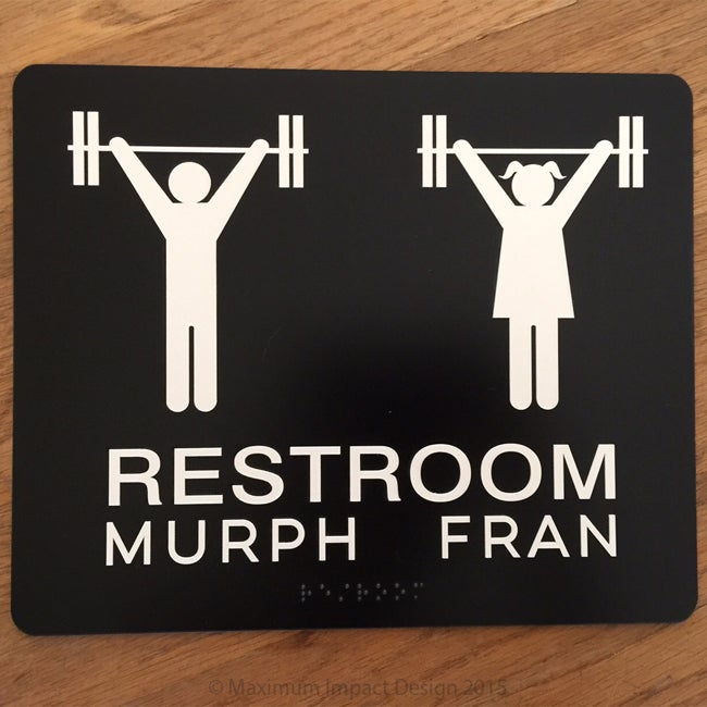 Image of CF Restroom Signage Murph and Fran ADA Compliant