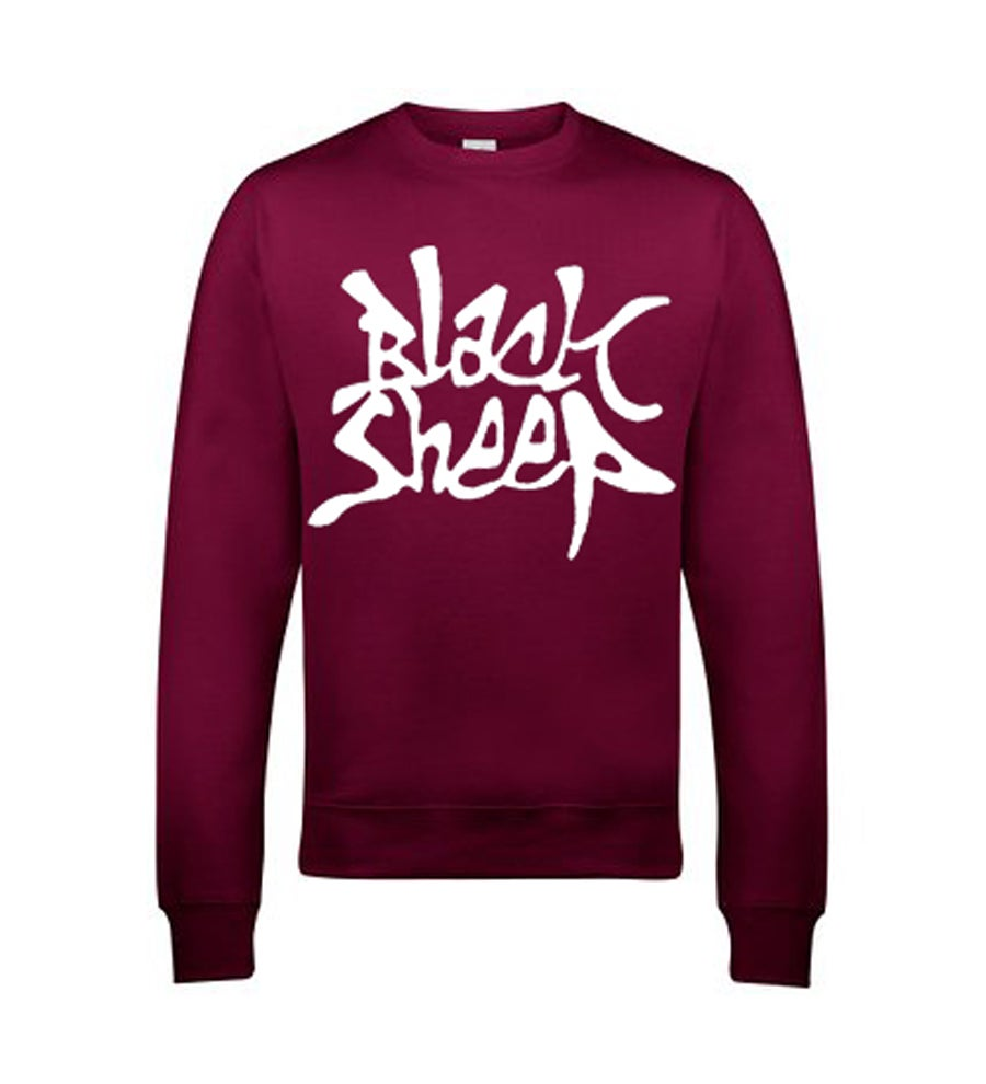 Image of GRAFFITI SWEATSHIRT (BURGUNDY)