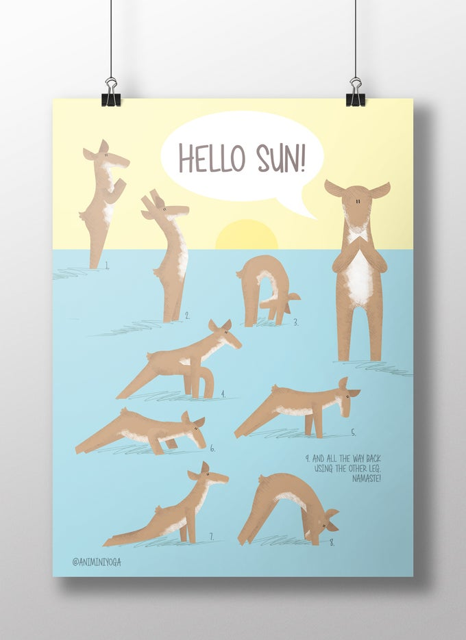 Image of Hello sun! with Deer