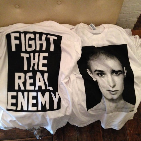 Image of WSSF SINEAD O'CONNOR white short sleeve shirt