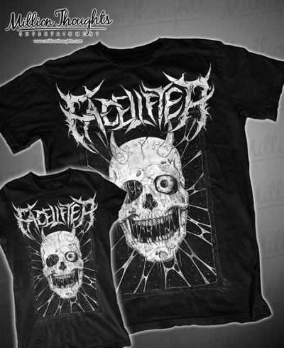 Image of Facelifter Skull T shirt black