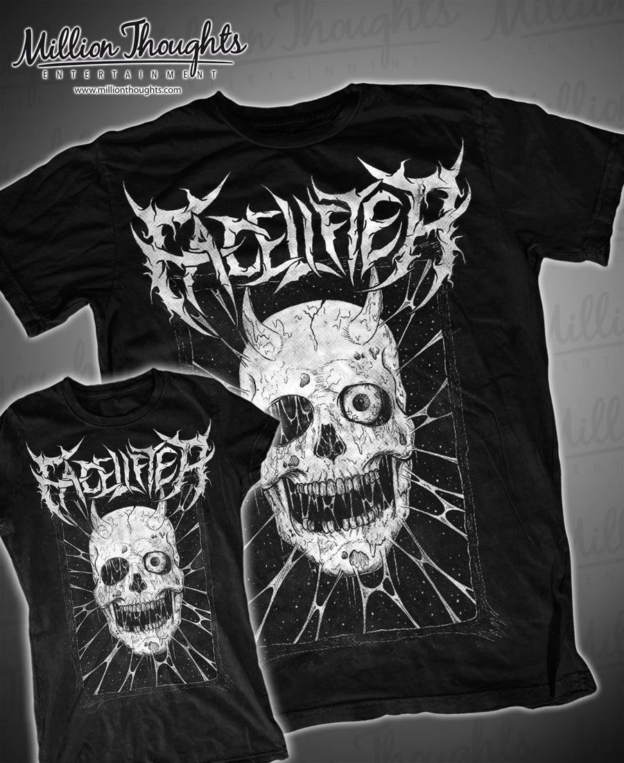 Image of Facelifter Skull T shirt black