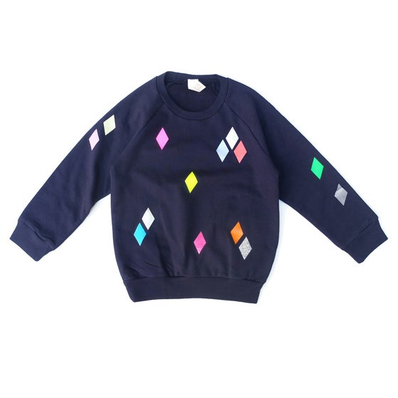 Image of Sweater Diamond navy