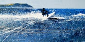 Image of Polzeath-surfer, carving the lip