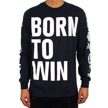 Image of Born to Win LS (Navy/White)