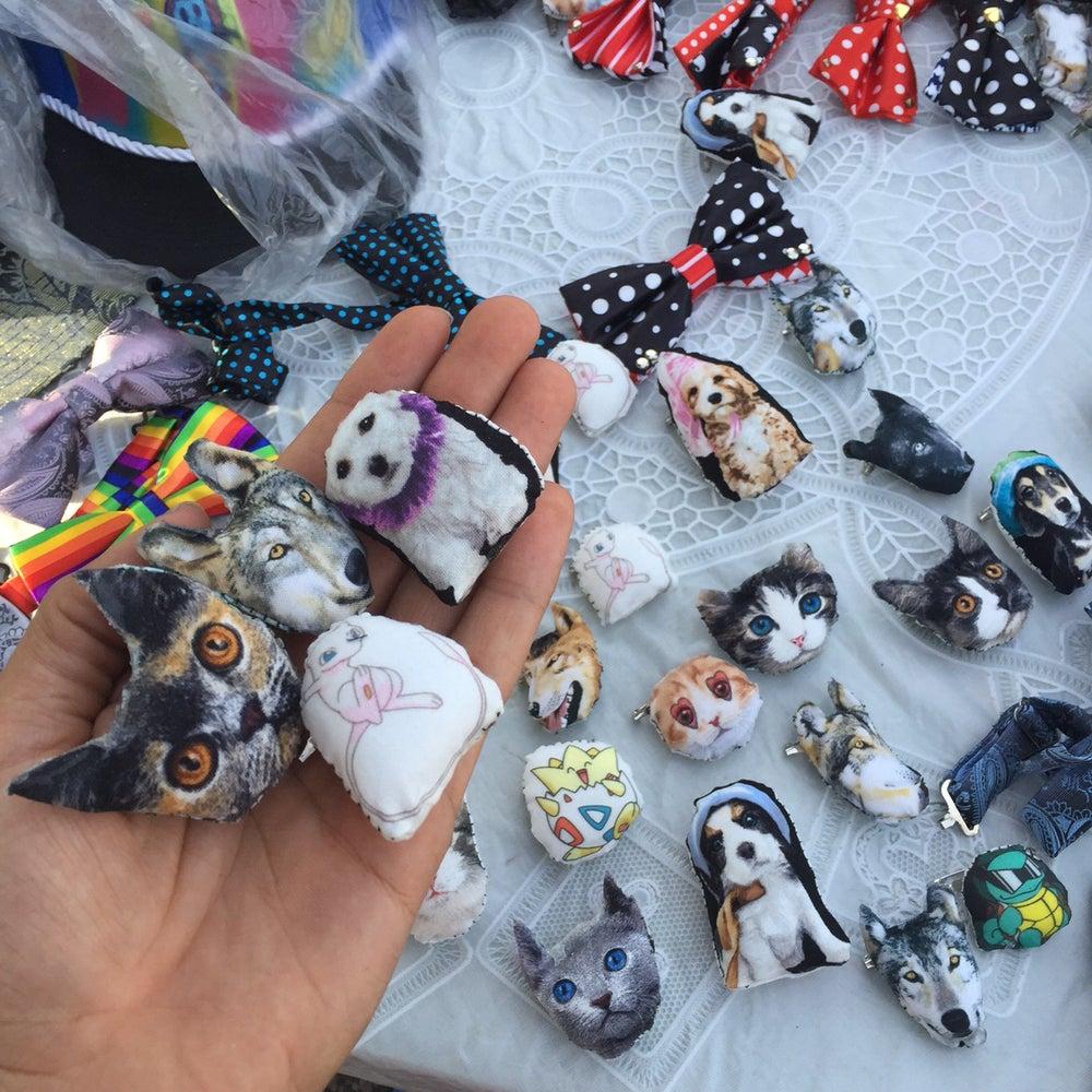 Image of Cat/Dog/Pug/Wolf Pins, ETC