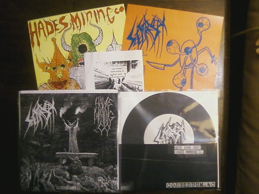 "Image of C.40 Sete Star Sept / Hades Mining Co. split 7"" vinyl"