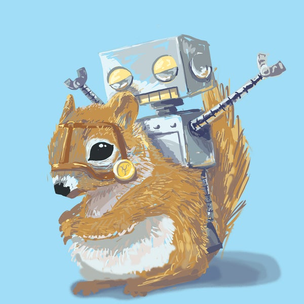 I'm on an F'n Squirrel! Print - Matt Q. Spangler Illustration