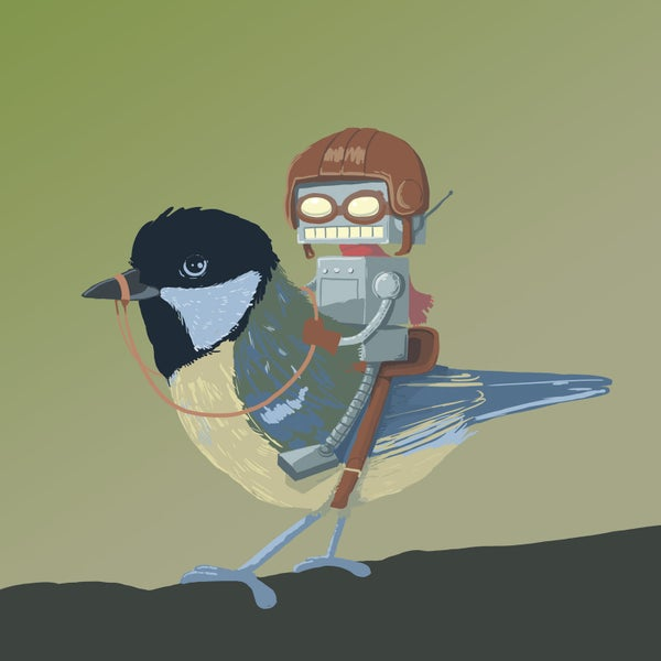 The Bird Rider Print - Matt Q. Spangler Illustration