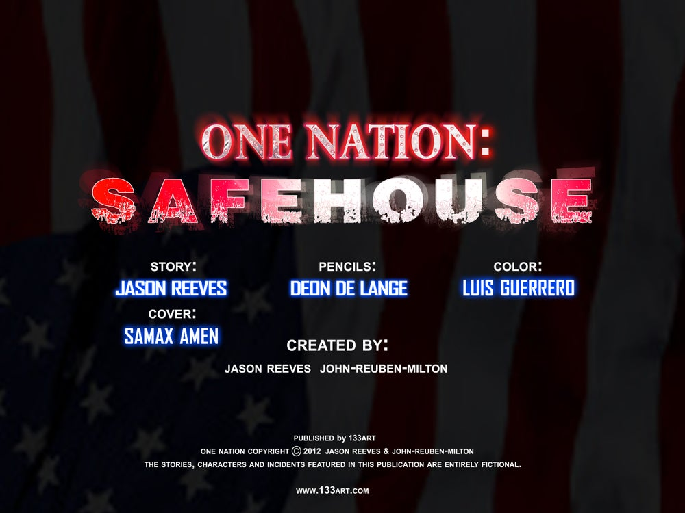 Image of ONENATION: Safehouse [print comic]
