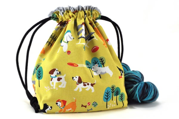 Image of Knitting Crochet Project Bag - Dog Park