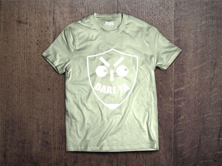 Image of I Dare Ya T-Shirt (Maroon Green/White Font)
