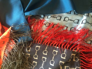 Image of Silk fringed scarves of gorgeous luxe