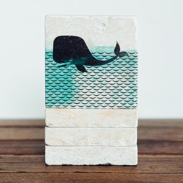 Image of Whale Mini Stone Print