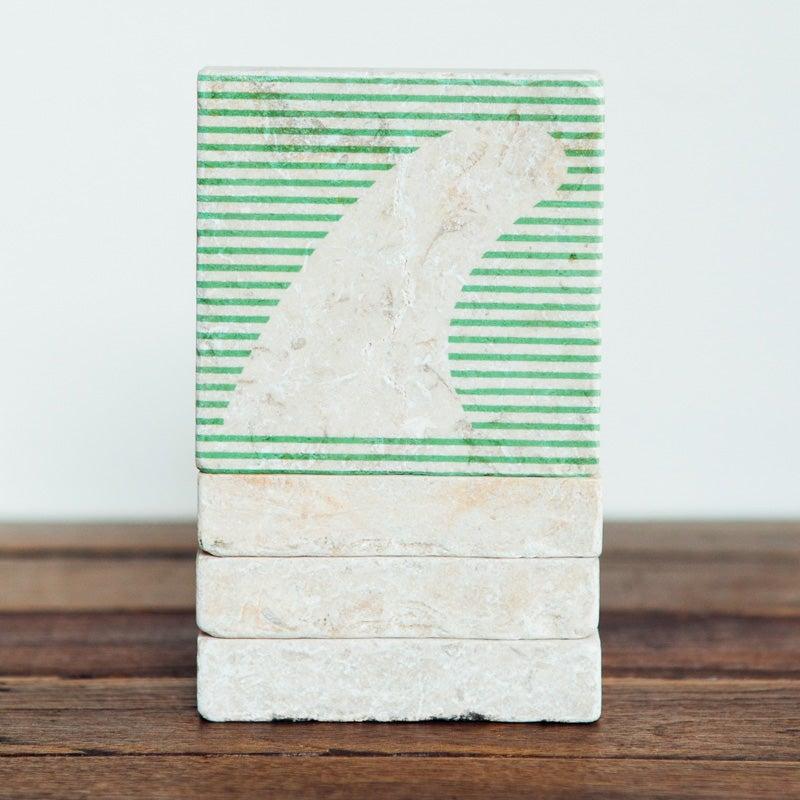 Image of Fin Stripes Mini Stone Print