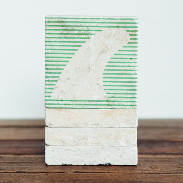 Image of Fin Stripes Mini Stone Print