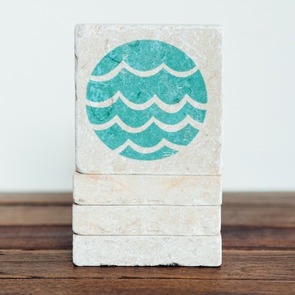Image of Circle Wave Mini Stone Print