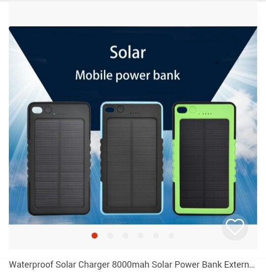 Image of Waterproof Solar Mobile Power Bank