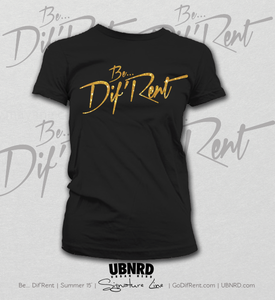 Image of Be Dif Tee (Blk/Gold)