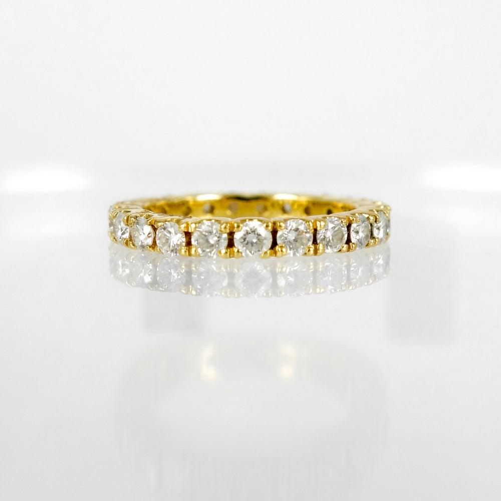 Image of 18ct yellow gold diamond wedding band