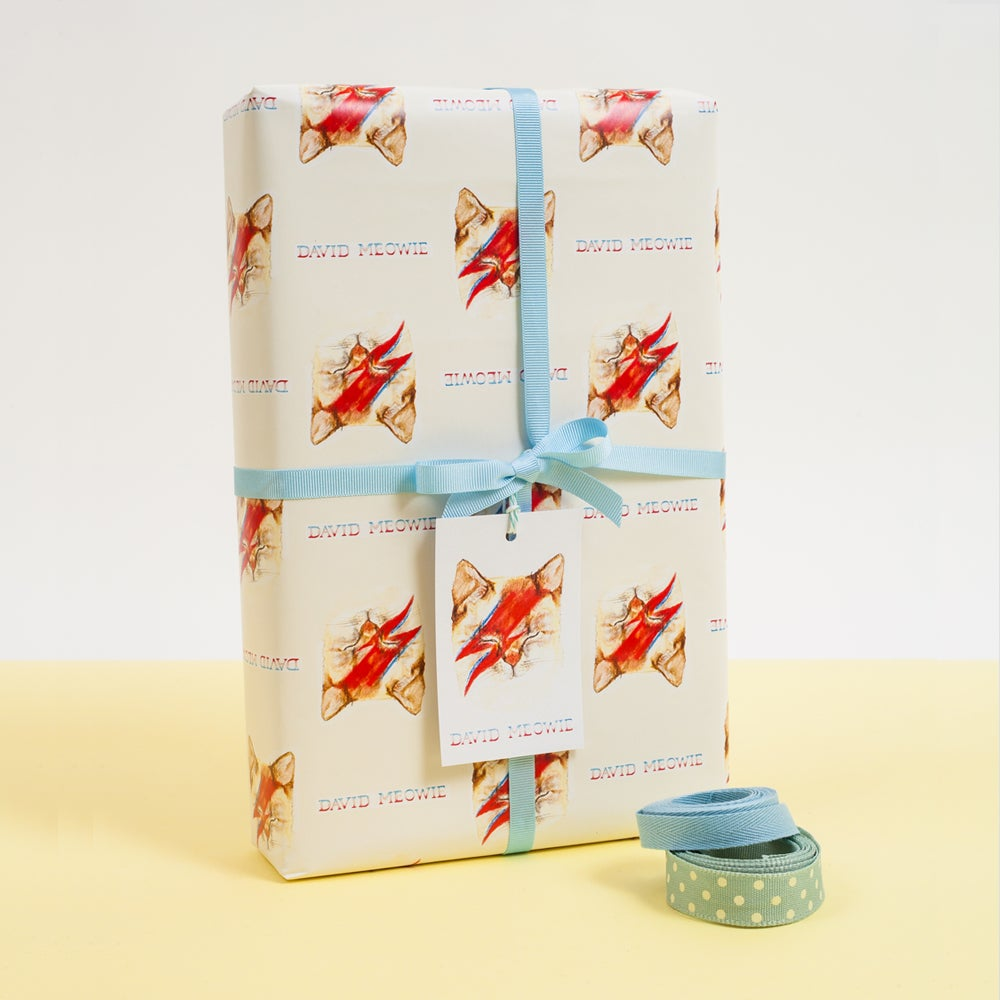 Image of David Meowie Gift Wrap