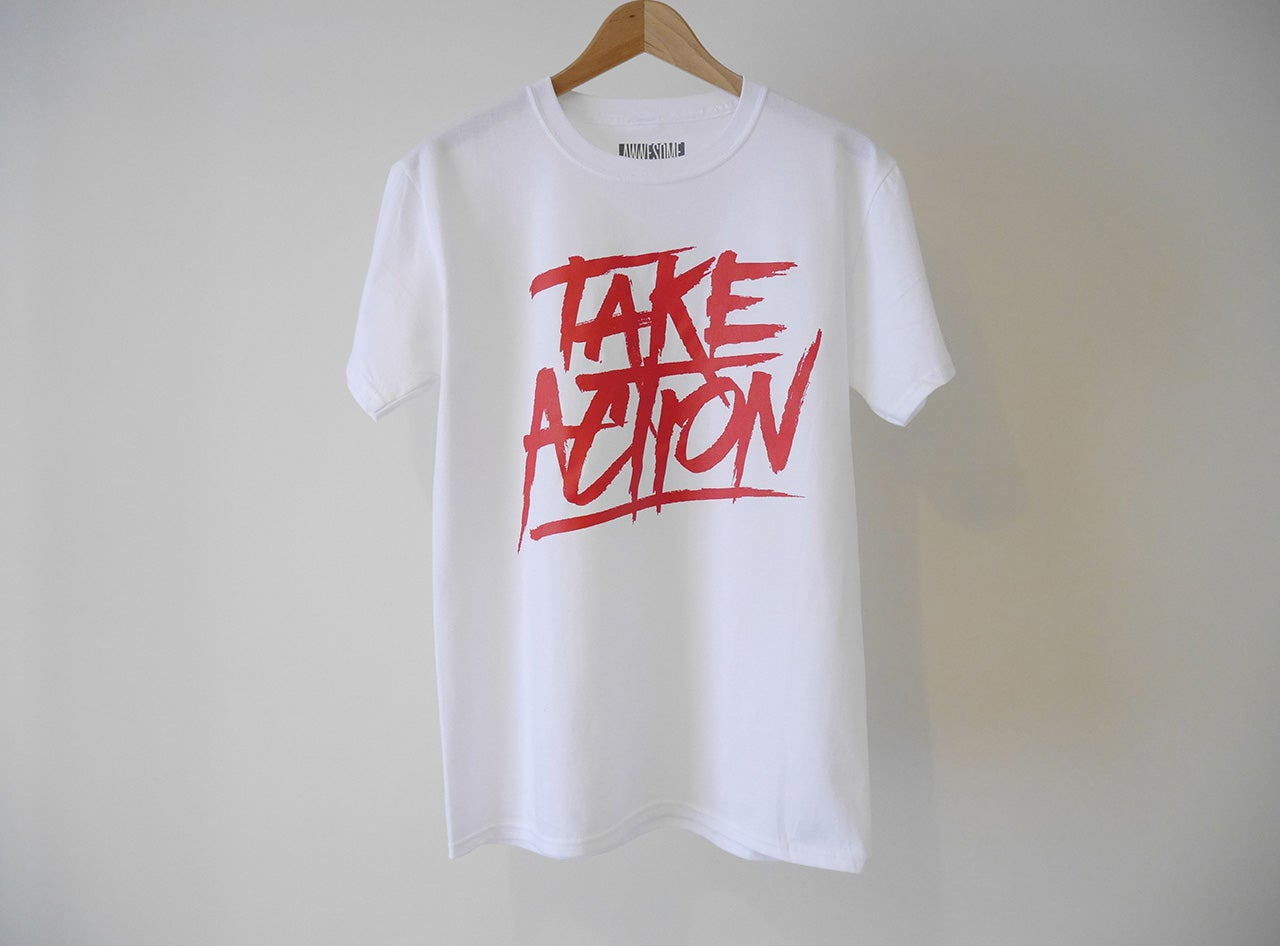 Image of Take Action in White