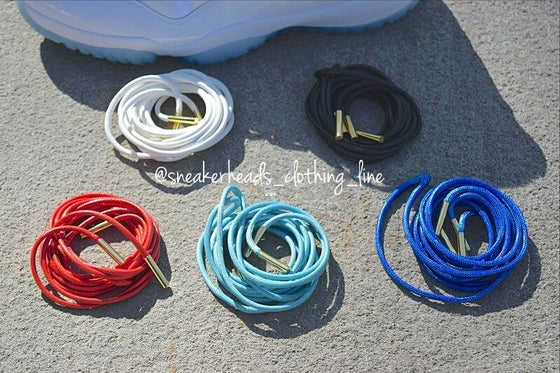 "Image of Exclusive ""Wax"" Custom Rope Laces (Gold Lacetips)"