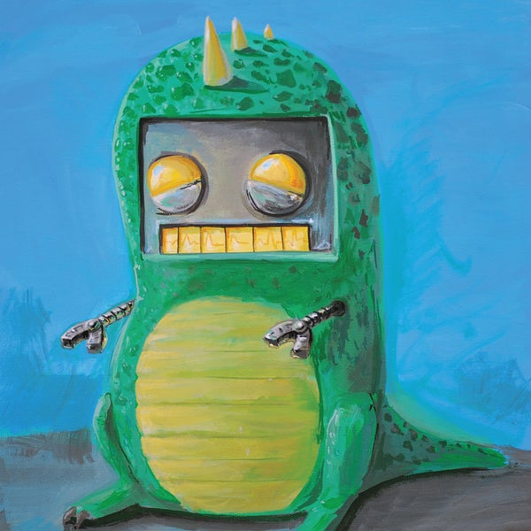 Robot in a Dino Suit Print - Matt Q. Spangler Illustration