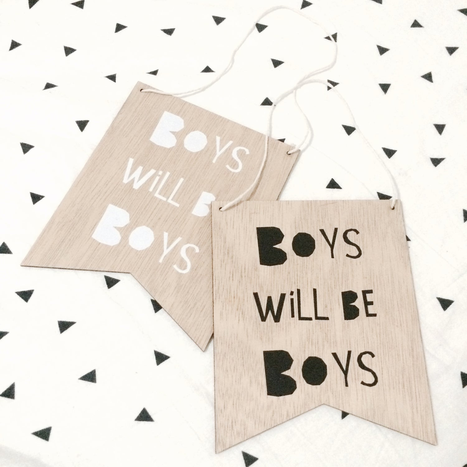 Image of 'BOYS WILL BE BOYS' MINI PLAQUE