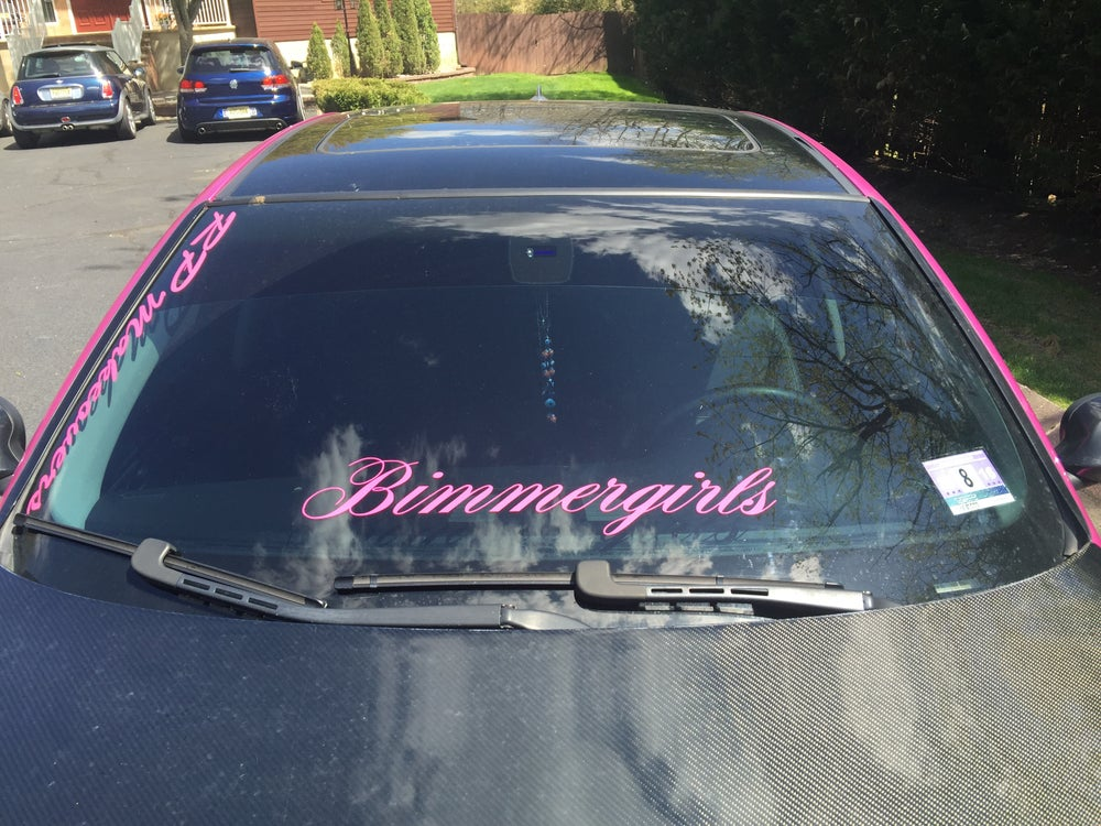 Image of Bimmer girls Windshield banner