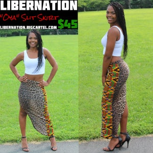 Image of LiberNation New Leopard Slit Skirt