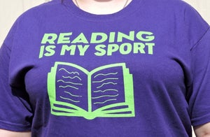 Image of Reading is My Sport T-Shirt (Short-sleeved)