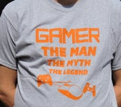 Image of Gamer- Man, Myth, Legend (Short-sleeved) T-Shirt