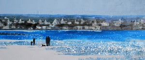 Image of Locquirec Brittany - Morning walk along the shining sands