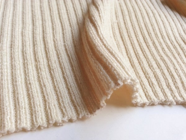 Image of 2x2 Rib Natural White Cotton (by the half yard)