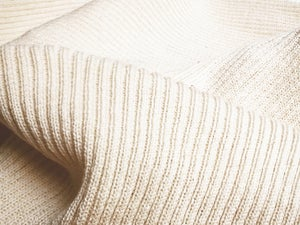 Image of 2x2 Rib Natural White Cotton (by the half hard)