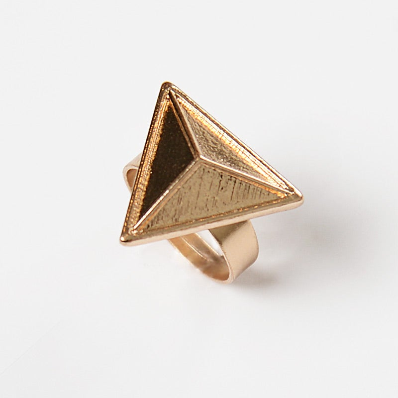 Image of Gold Triangle Ring
