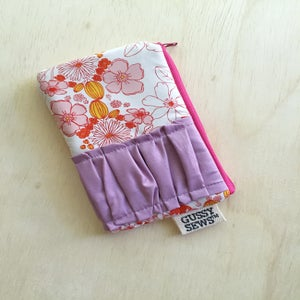 Image of Pink Meadow medium zip pouch
