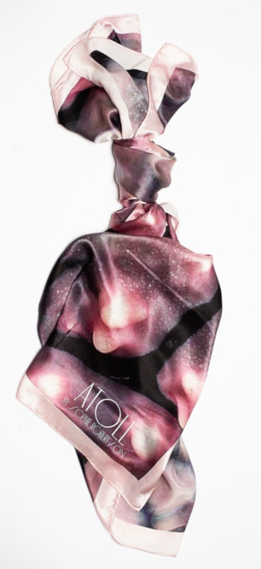 Image of Great Barrier Reef | Pink Coral Silk Scarf