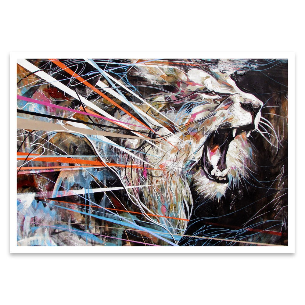 Image of ROARING LION Open Edition Print FREE WORLDWIDE SHIPPING
