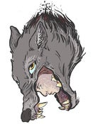 """Image of """"Wolf Mother"""" Postcard + Drawing"""