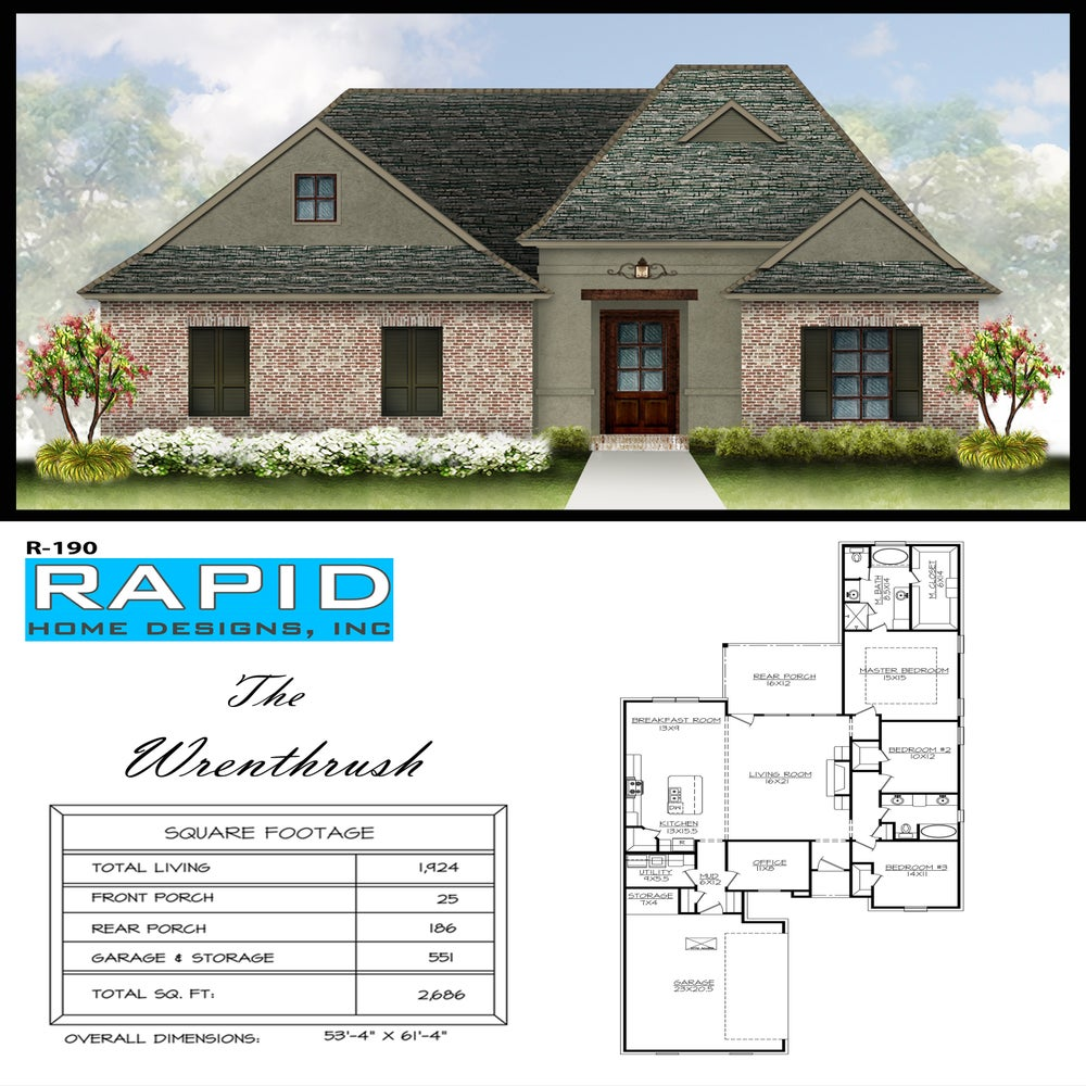 The wrenthrush 1924 sf rapid home designs for Rapid home designs