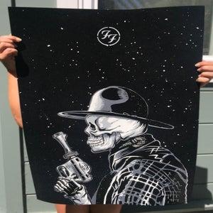 Image of Foo Fighters Flocked Velvet Poster