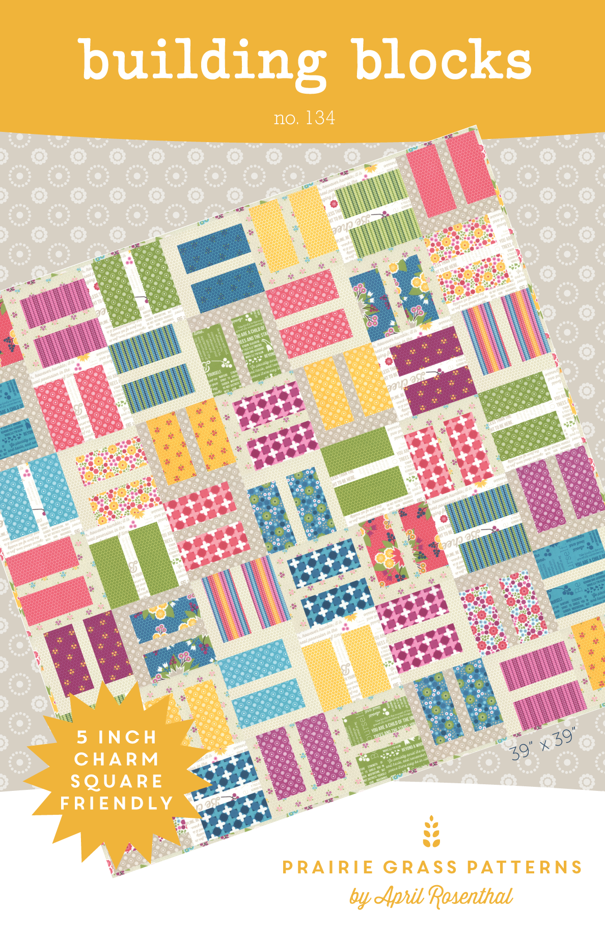 building blocks  quilting pattern  134