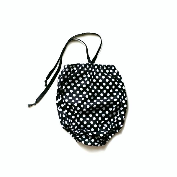 Image of Noir Dot Bubble Playsuit