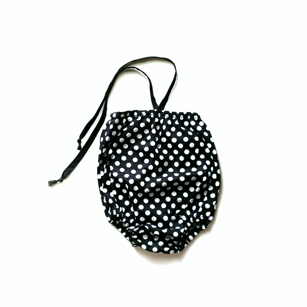 Image of Noir Dot Bubble Playsuit